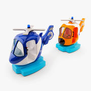 Kiddie Ride Helicopter 3d model
