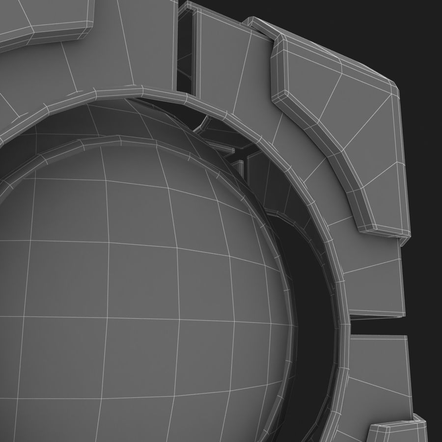 Portal-kubus royalty-free 3d model - Preview no. 10