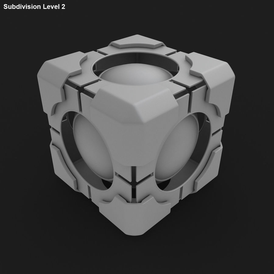 Portal-kubus royalty-free 3d model - Preview no. 16