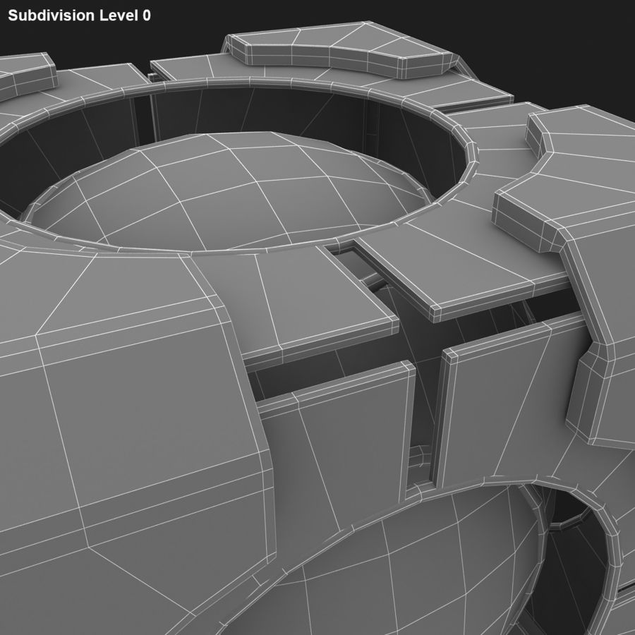 Portal-kubus royalty-free 3d model - Preview no. 11