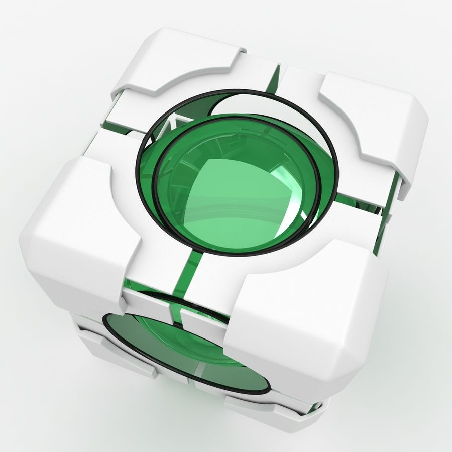 Portal-kubus royalty-free 3d model - Preview no. 5