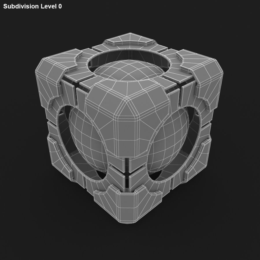 Portal-kubus royalty-free 3d model - Preview no. 14