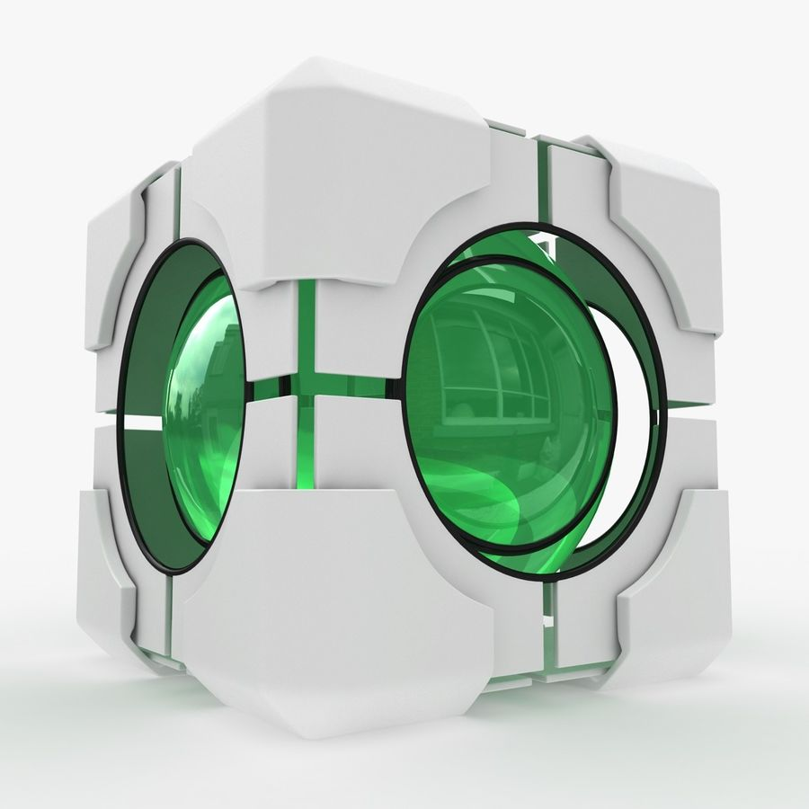 Portal-kubus royalty-free 3d model - Preview no. 4