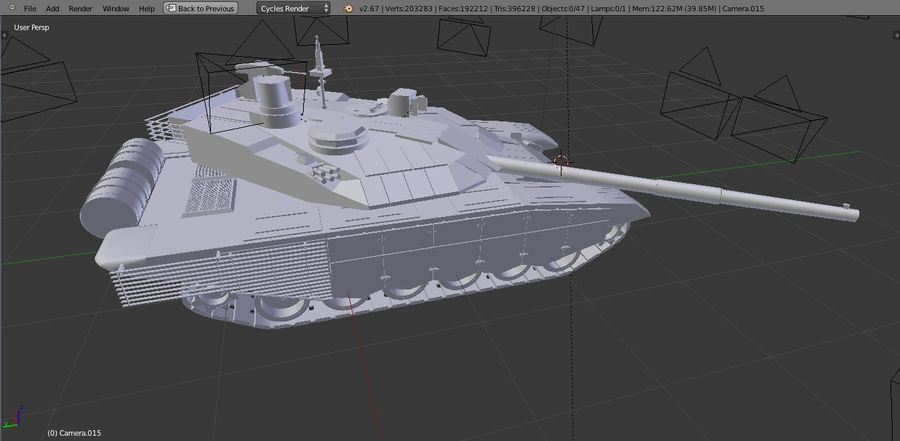 T90 MS royalty-free 3d model - Preview no. 9