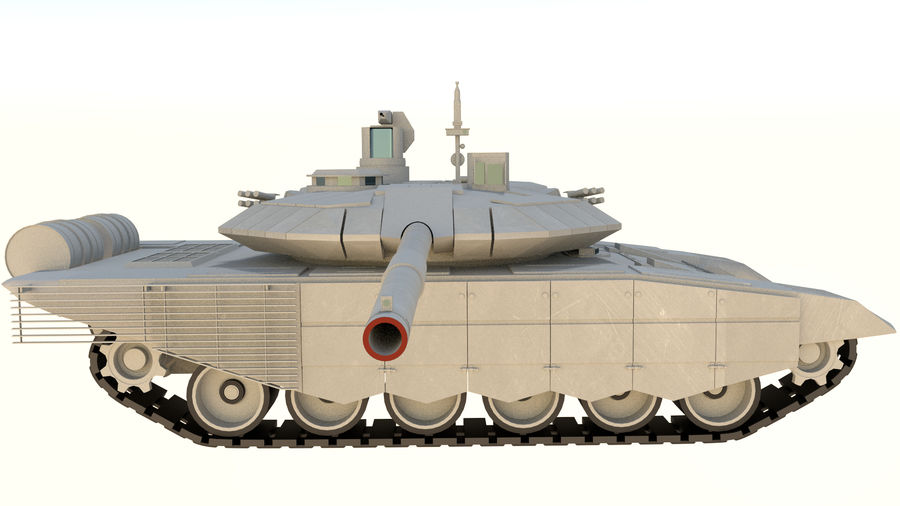 T90 MS royalty-free 3d model - Preview no. 4