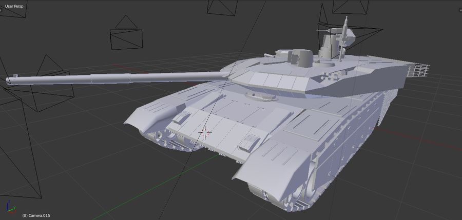 T90 MS royalty-free 3d model - Preview no. 8