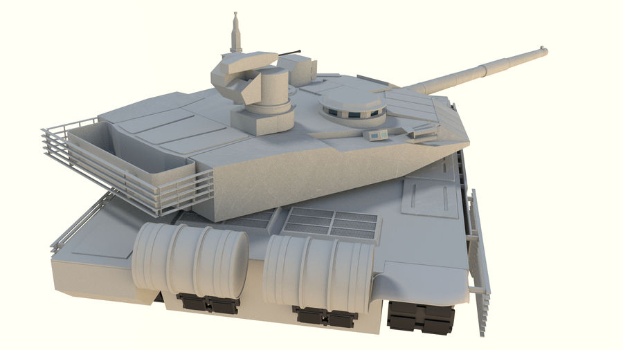 T90 MS royalty-free 3d model - Preview no. 7