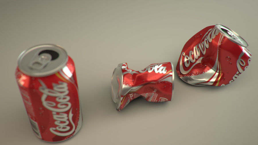 Drink kan verpletterd royalty-free 3d model - Preview no. 1