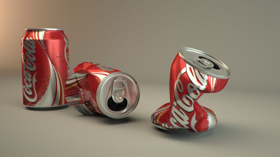 Drink kan verpletterd royalty-free 3d model - Preview no. 4