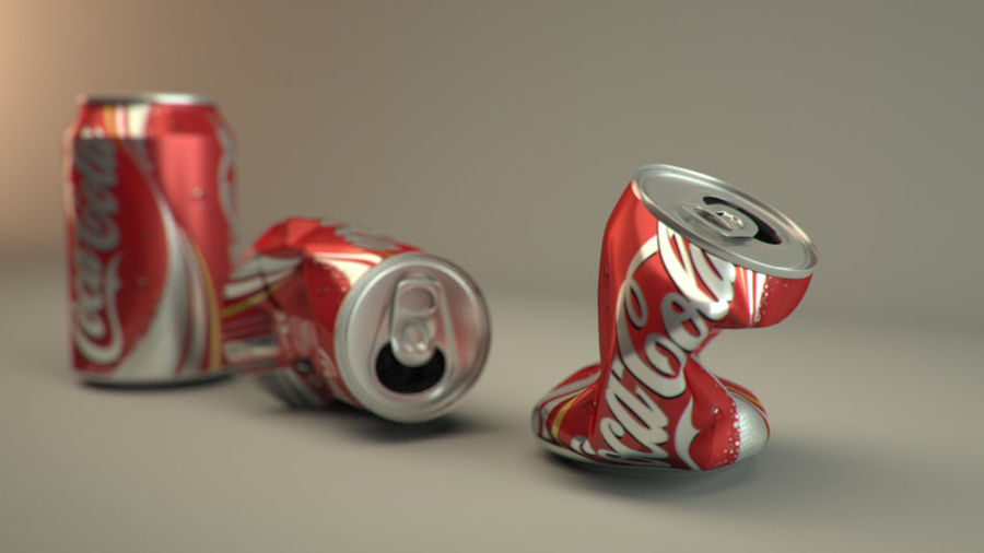 Drink kan verpletterd royalty-free 3d model - Preview no. 2