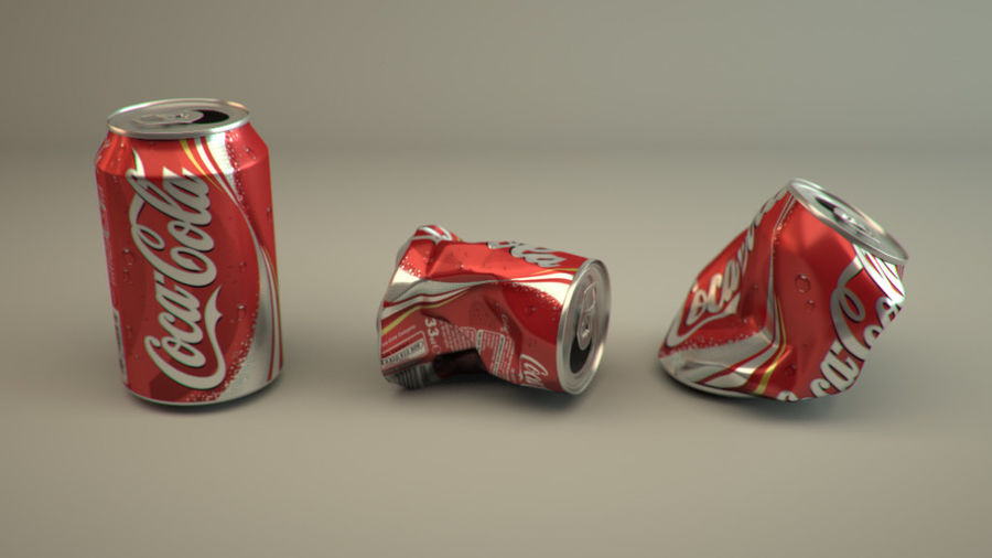 Drink kan verpletterd royalty-free 3d model - Preview no. 3