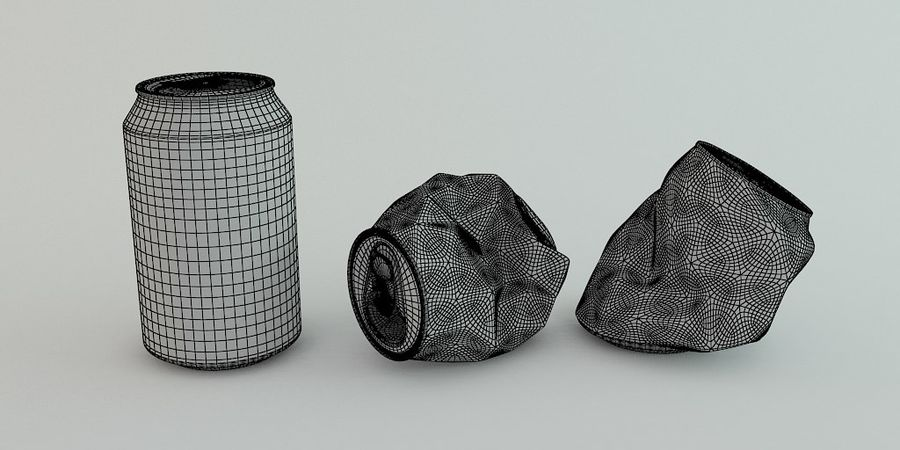 Drink kan verpletterd royalty-free 3d model - Preview no. 5