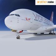 Airbus A380 Virgin Atlantic 3d model