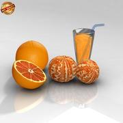 橘子 3d model