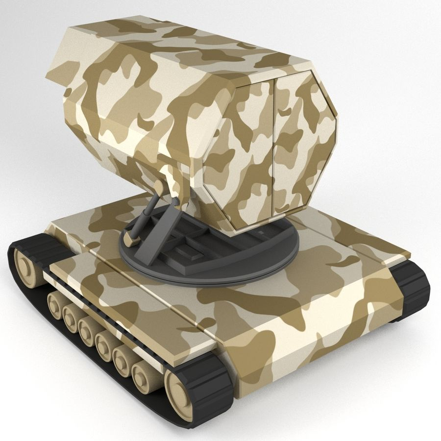 Rocket Launcher Tracked Vehicle royalty-free 3d model - Preview no. 3