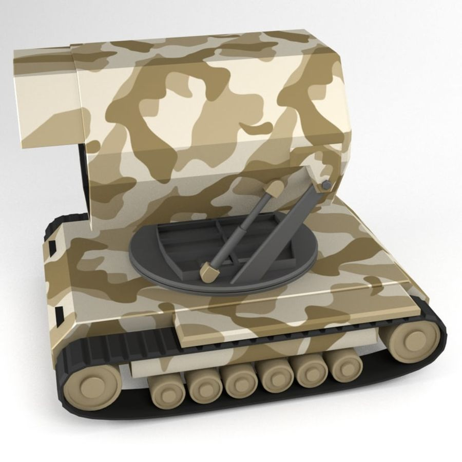 Rocket Launcher Tracked Vehicle royalty-free 3d model - Preview no. 2