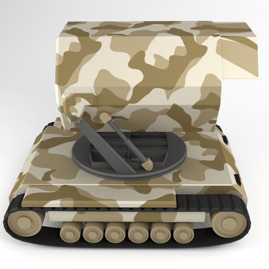 Rocket Launcher Tracked Vehicle royalty-free 3d model - Preview no. 5