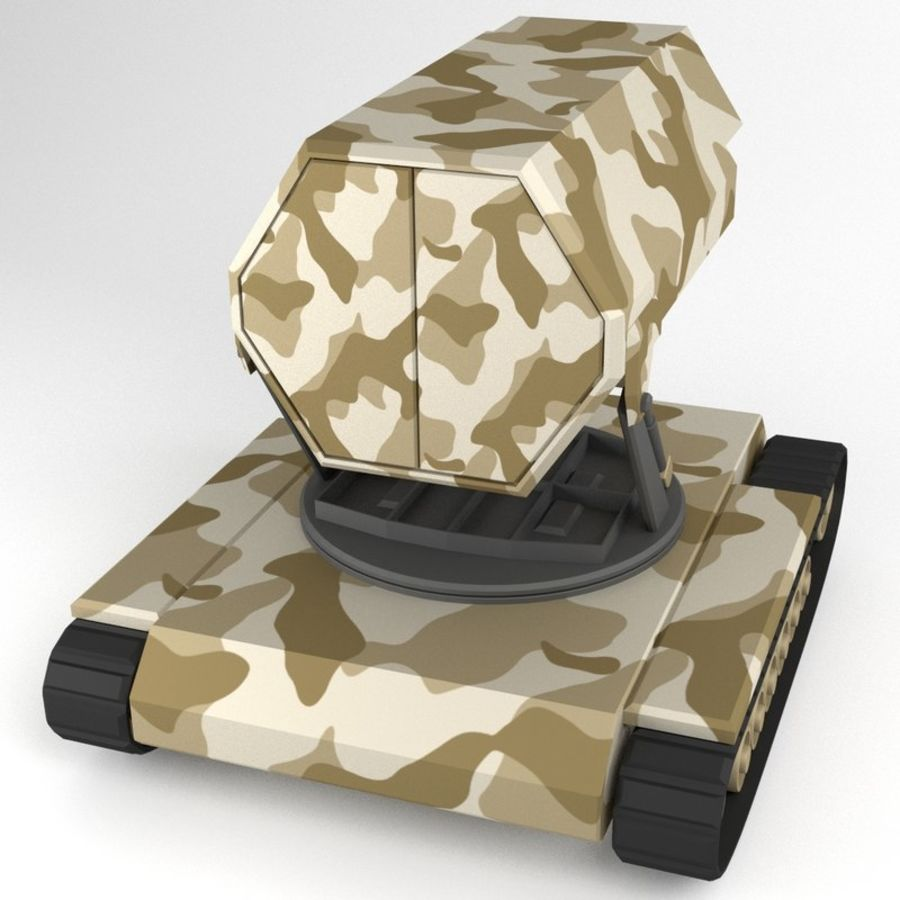 Rocket Launcher Tracked Vehicle royalty-free 3d model - Preview no. 4