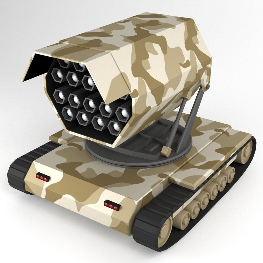 Rocket Launcher Tracked Vehicle royalty-free 3d model - Preview no. 1