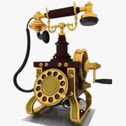 빈티지 전화 3d model
