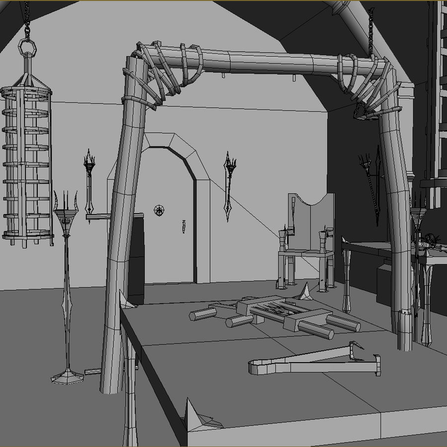 Torture Chamber royalty-free 3d model - Preview no. 10