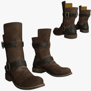 Brown Leather Boots 3d model