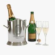 Louis Roederer Champagne Set 3d model
