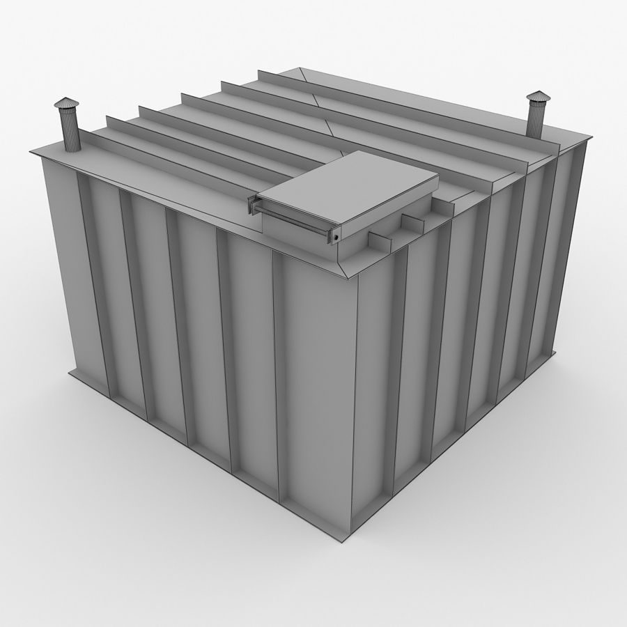 플라스틱 지하실 royalty-free 3d model - Preview no. 8