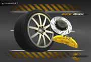 Roda de carro esporte Lowpoly 3d model