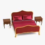 바로크 침대 3d model