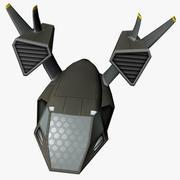 Astronave bassa poli 3d model