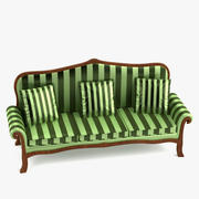 Barok kanepe 3d model