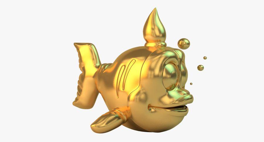 Pez dorado royalty-free modelo 3d - Preview no. 2