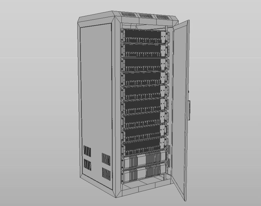 Server Rack royalty-free 3d model - Preview no. 8