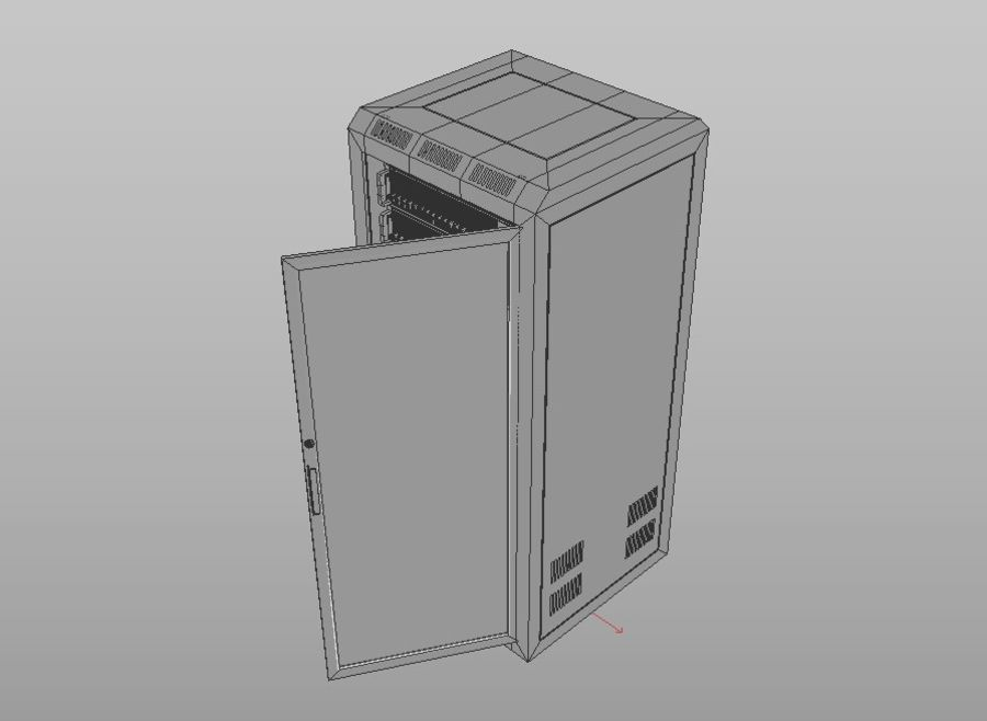 Server Rack royalty-free 3d model - Preview no. 9