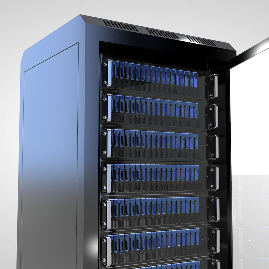 Server Rack royalty-free 3d model - Preview no. 5