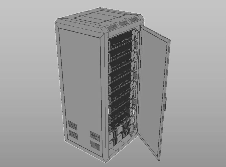 Server Rack royalty-free 3d model - Preview no. 10