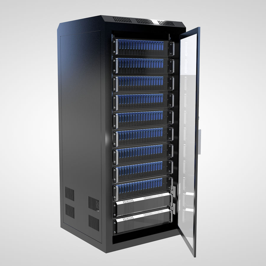 Server Rack royalty-free 3d model - Preview no. 3