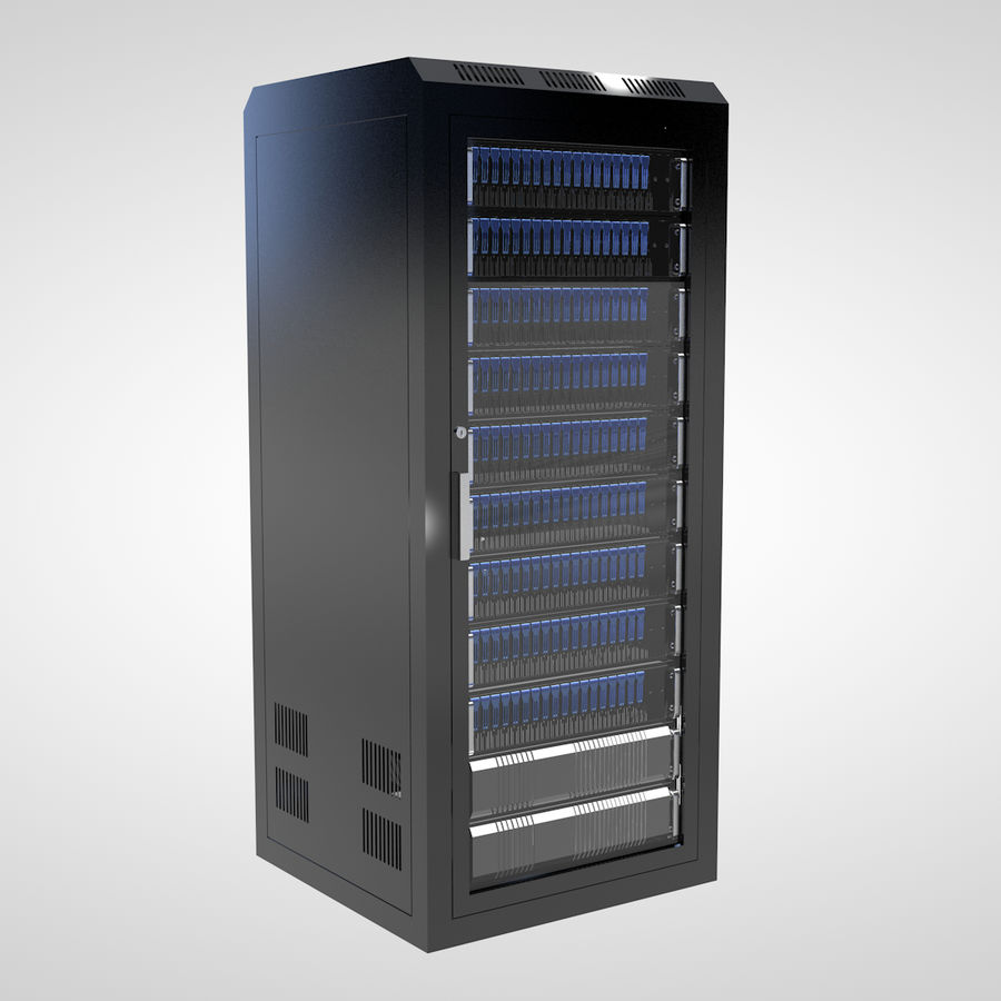 Server Rack royalty-free 3d model - Preview no. 4