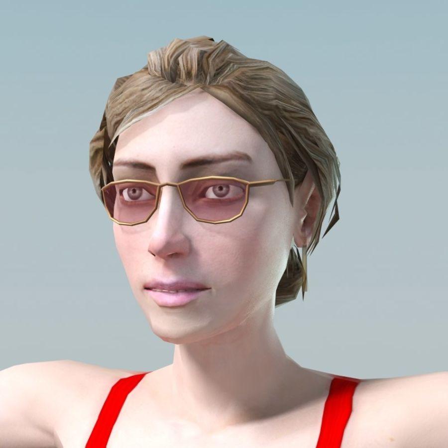 청바지에 소녀 royalty-free 3d model - Preview no. 13