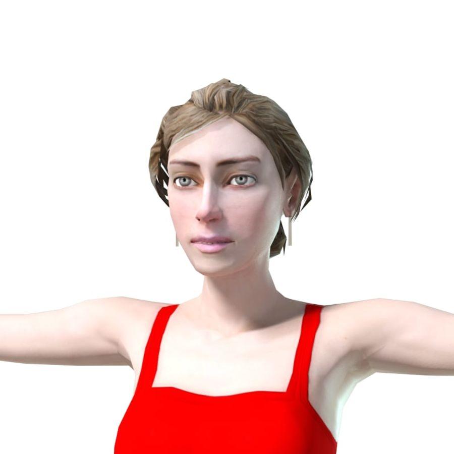 청바지에 소녀 royalty-free 3d model - Preview no. 5