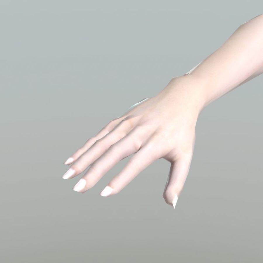 청바지에 소녀 royalty-free 3d model - Preview no. 15