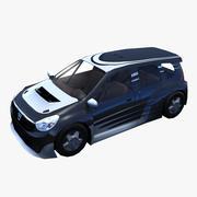 Dacia Lodgy Low Poly 3d model