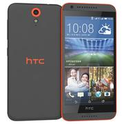 HTC Desire 820 Mini Red 3d model