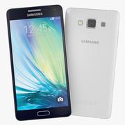 Samsung Galaxy A5 blauw en wit 3d model