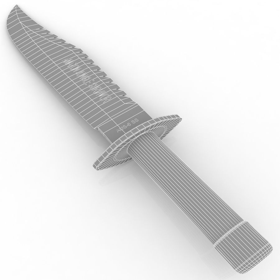 Amazon Survival Knife royalty-free 3d model - Preview no. 7