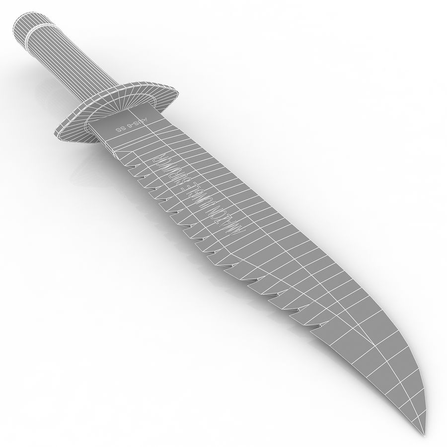 Amazon Survival Knife royalty-free 3d model - Preview no. 8