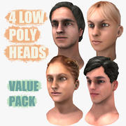 Low Poly Head Value Pack 3d model