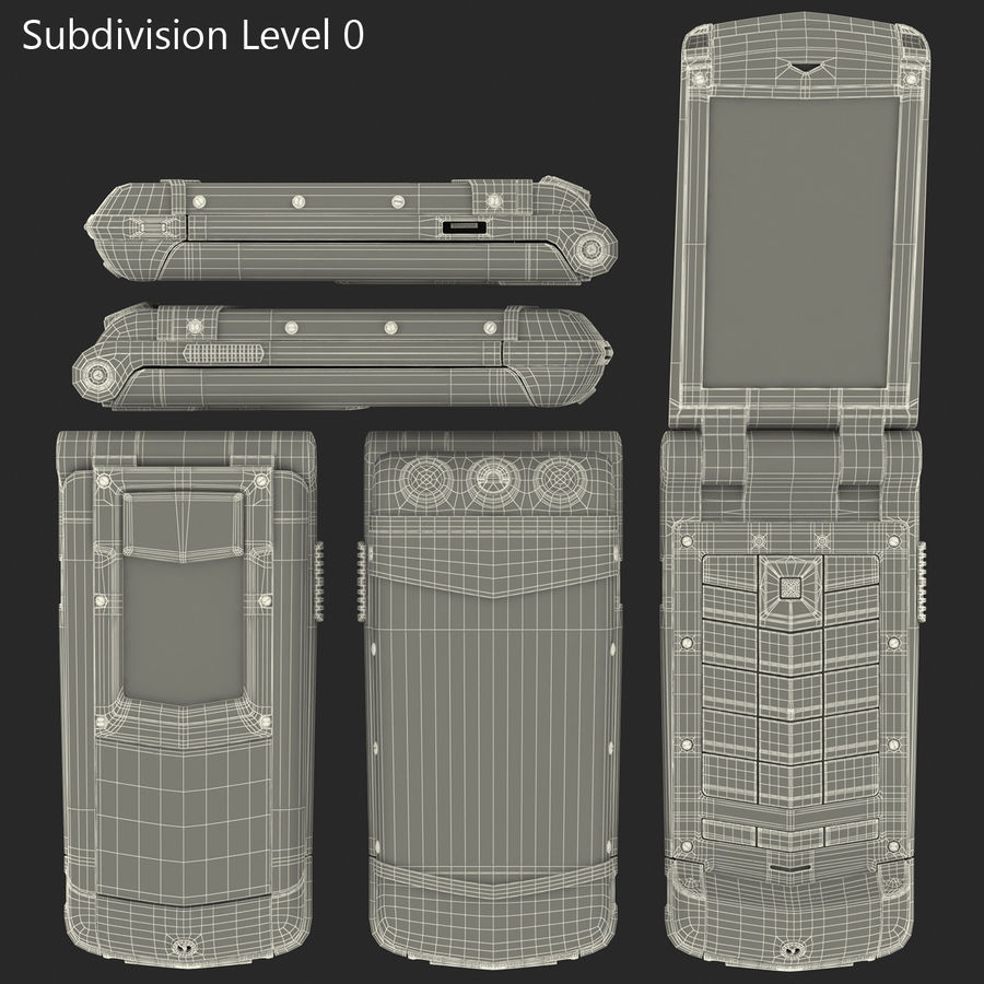 Vertu Constellation Ayxta royalty-free 3d model - Preview no. 37