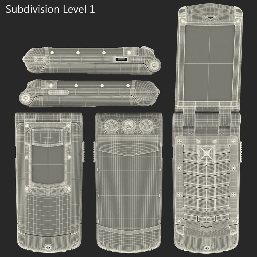 Vertu Constellation Ayxta royalty-free 3d model - Preview no. 38